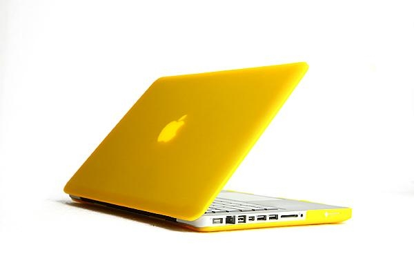 """Rubberized Hard Case Cover for Apple Macbook Pro 15.4"""" .--Yellow 1"""