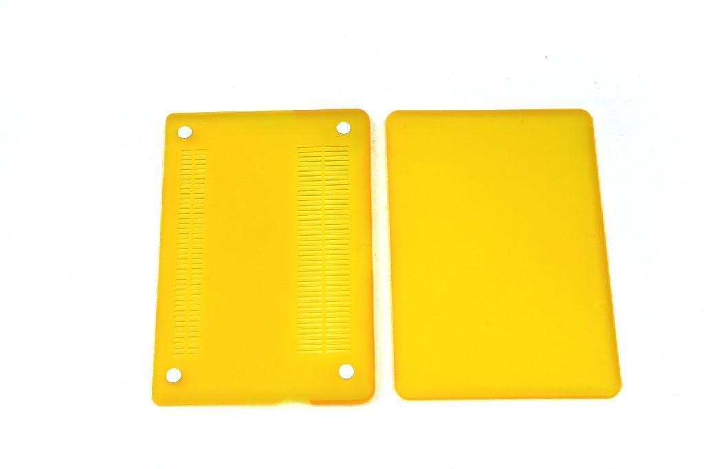 """Rubberized Hard Case Cover for Apple Macbook Pro 15.4"""" .--Yellow 4"""