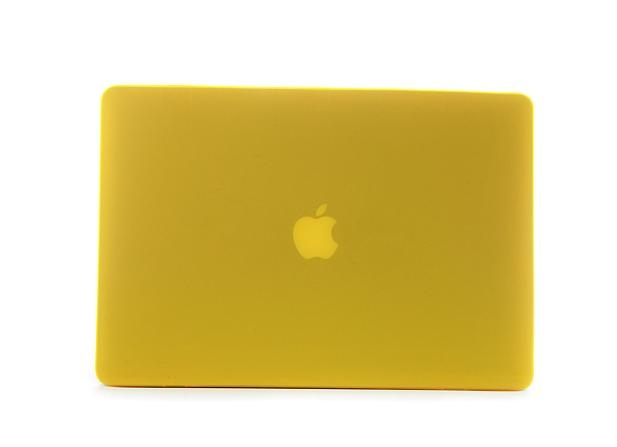 """Rubberized Hard Case Cover for Apple Macbook Pro 15.4"""" .--Yellow 5"""