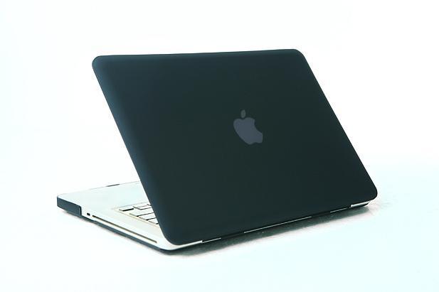 "Rubberized Hard Case Cover for Apple Macbook Pro 15.4"" .--Black 2"