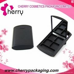 Black plastic cosmetic contianer makeup