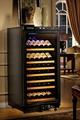 經典仿皮黑恆溫酒櫃DK130型