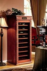 美式仿古實木恆溫酒櫃
