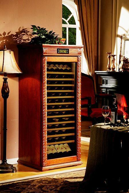 美式仿古實木恆溫酒櫃產品型號:DK660 1