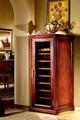 美式仿古实木恒温酒柜产品型号:DK680 1