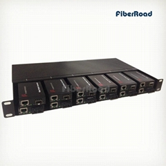 12 Slots Rackmount for Mini Media Converter with Dual Redundant AC or DC Power