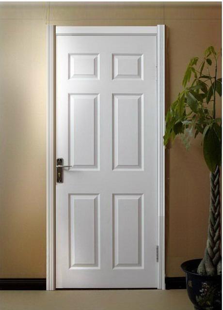 Modern design pvc mdf interior wooden plain doors hb 19 for Plain main door designs