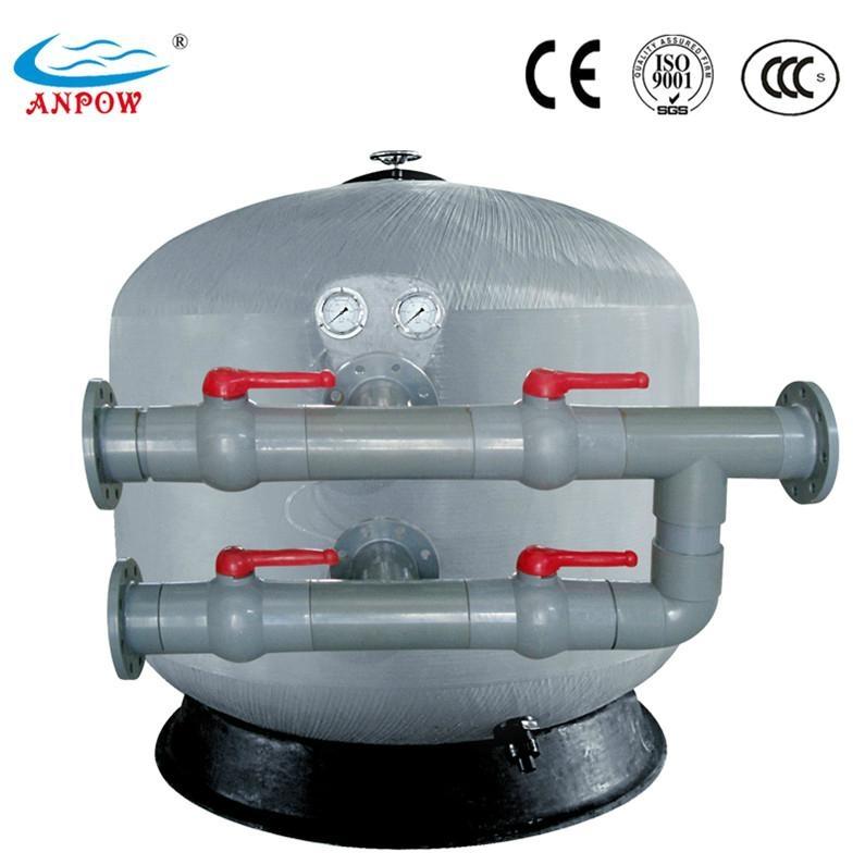 Side mount high density fiberglass sand filters with valve for Fiberglass density