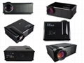 Good quality 3000 lumens LED video projector HDMI/SD/USB/PC for home cinema