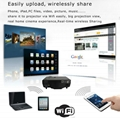 Cheapest LED smart video projector Android wifi HDMI RJ45 VGA SD LED lamp