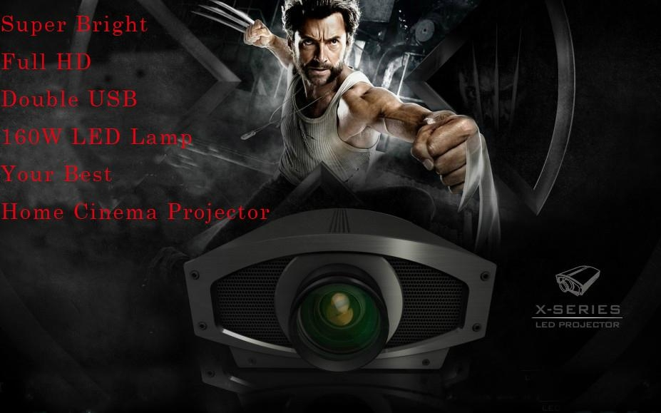 Perfect clear Real 1080P LED video projector HDMI USB port/ built in TV tuner 3