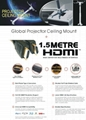 Projector LED full HD for brightness home theater HDMI support 1080p