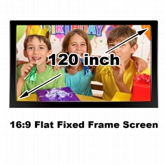 Projection screen cinema size 120 inch 16:9 brightness for home theater