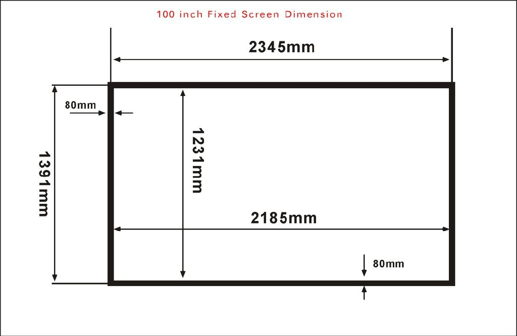 Projection Screen Cinema Size 120 Inch 16 9 Brightness For