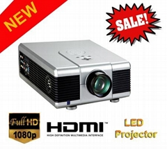 Full HD LED video projector with DVB-T/USB/SD/HDMI for 3D home cinema
