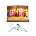 Portable 84 inch tripod screen/ 4:3 projector manual screens high gain