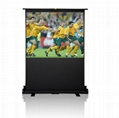 Projection screen Matt White 100 inch Portable Pull Up Manual projector screens