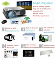 Full HD LED video Android Wifi projector/projektor/proyector support HDMI 1080p