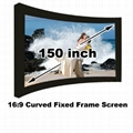 Projector Projection screen 150 inch curved fixed/16:9 best cinema