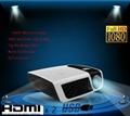 New arrival slim DLP mini projector short throw HDMI VGA USB SD