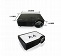 Good quality video Projector LED full HD HDMI1.4 TV tuner for home cinema
