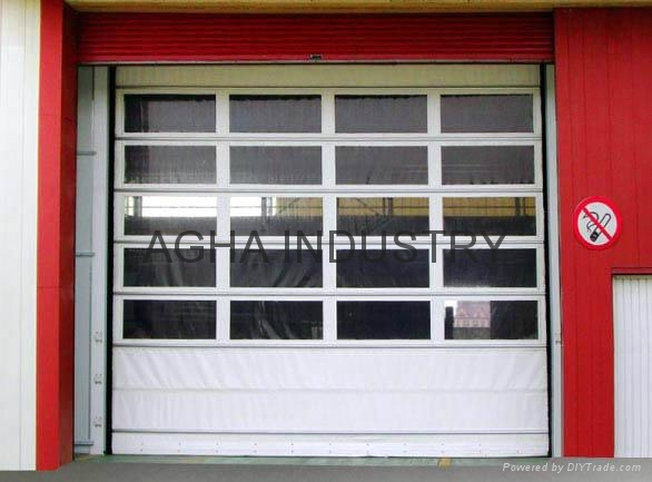 Transparent sliding up door 4