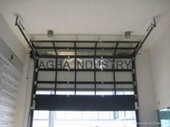 Transparent sectional door