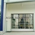 Transparent sectional door 3