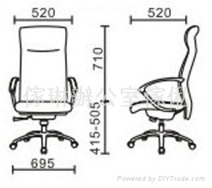 仿皮/真皮高背大班椅 2