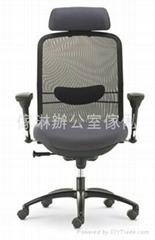 網背大班椅連頭枕