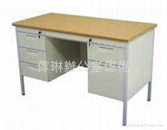 雙邊櫃桶木面鋼檯