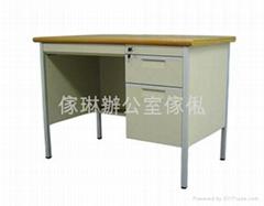 單邊櫃桶木面鋼檯