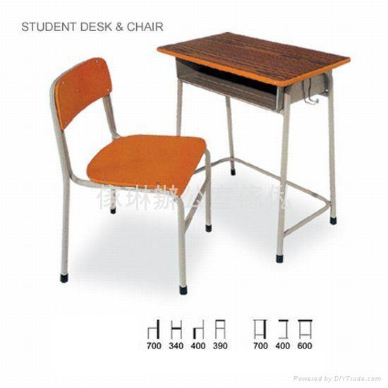 傳統式學生檯椅 1