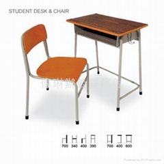传统式学生枱椅