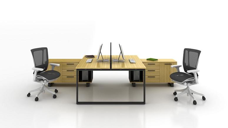 XD 新款鋼腳木面檯 3