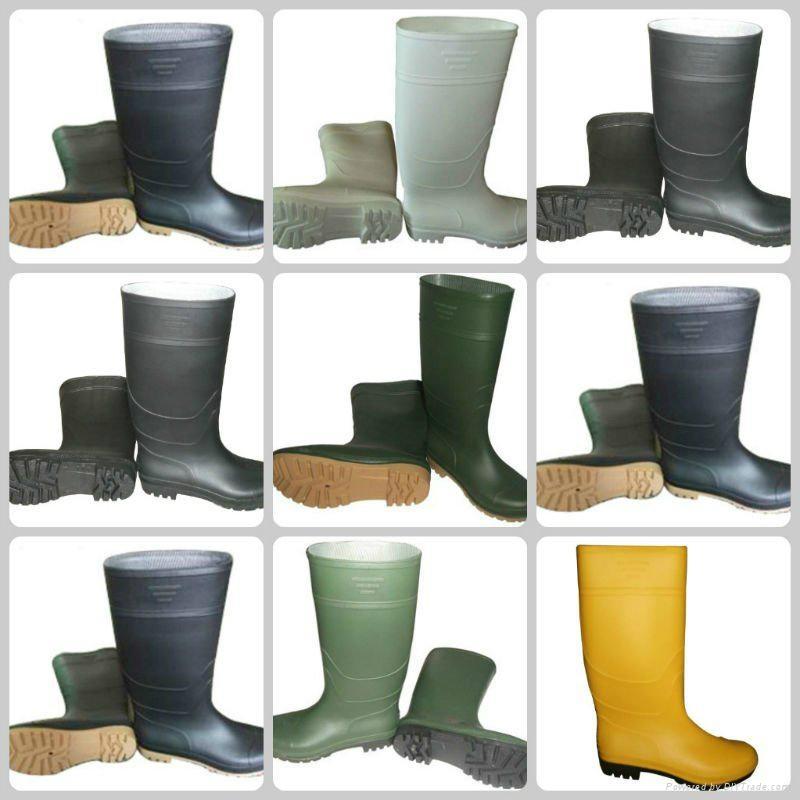 Half Boot Waterproof PVC safety Rain Boots 1