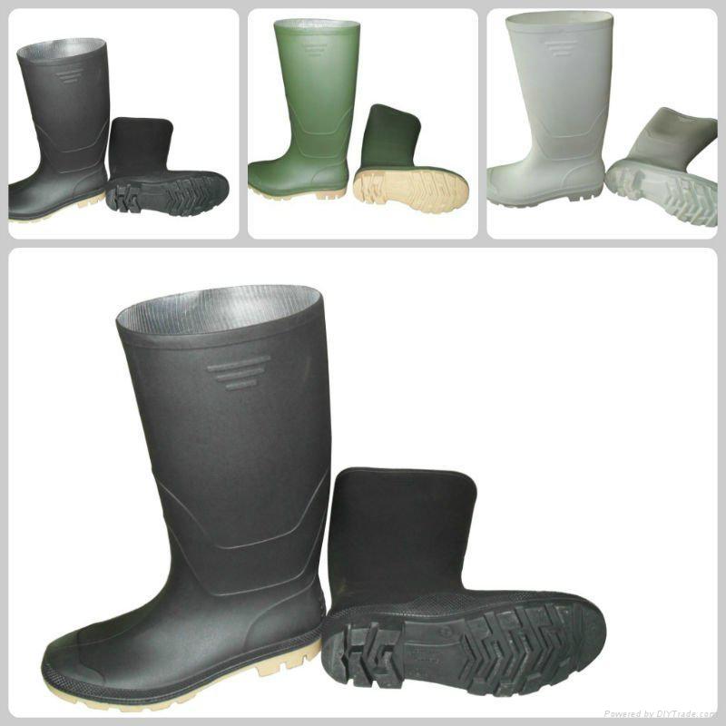 Half Boot Waterproof PVC safety Rain Boots 2