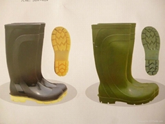 Half Boot Waterproof PVC safety Rain Boots