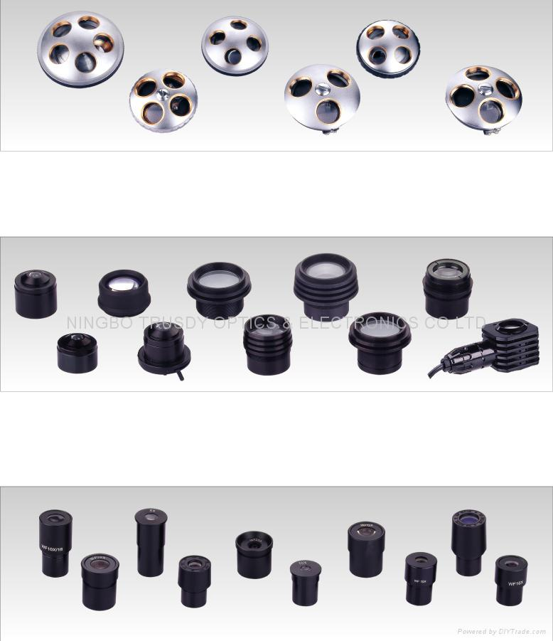 Eyepiece,Condenser and Nosepieces