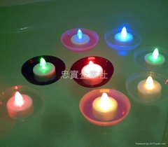 Float a water electronics candle
