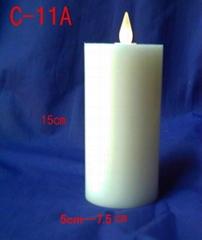 真蠟燭加發光led
