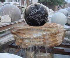 石雕风水球