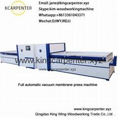 pvc door skin coating vacuum membrane press machine
