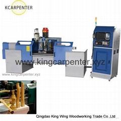 high speed CNC wood lathe milling machine for irregular table legs