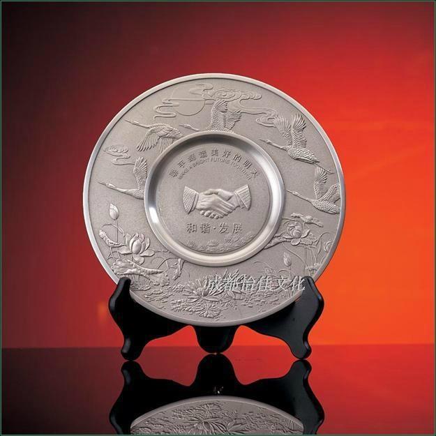 純錫坊 純錫龍盤擺件定製 成都工藝禮品定製  4