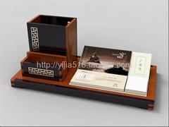 尚元堂风车纹长方笔筒组合套装 红木办公礼品定制