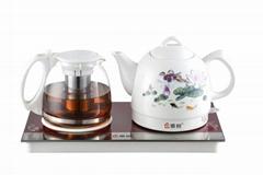 成都茶具禮品 陶瓷電熱水壺商務茶具套裝 成都禮品團購