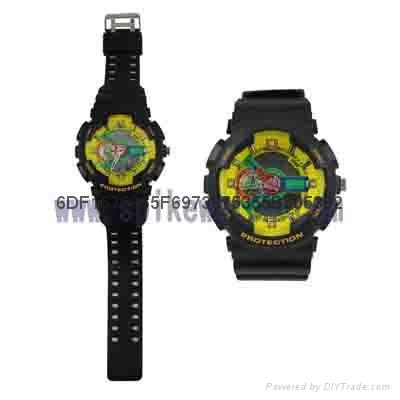 新款指针跳字双时手表 2