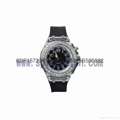 七彩闪灯硅胶手表