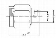 LOW PIM SMA Male Connector per RG402 Semi-Flex Cable